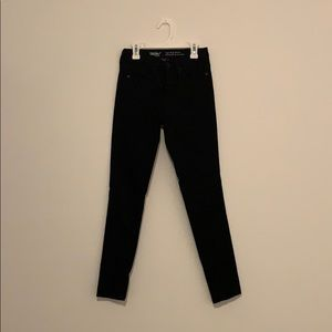 Mossimo denim. High rise skinny black jeans